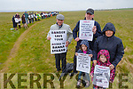 Banna Strand Right of Way Protest walk on Friday Pictured Pat Lawlor ,  John Lane, Mary Lane, Abbie Lane, Louie Lane and many protesters