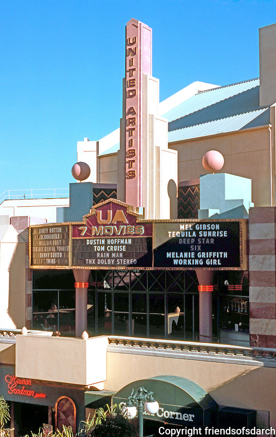 Jon Jerde: Horton Plaza--United Artists Theater. Photo '85.
