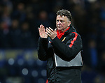 Manchester United's Louis Van Gaal celebrates at the final whistle<br /> <br /> FA Cup - Preston North End vs Manchester United  - Deepdale - England - 16th February 2015 - Picture David Klein/Sportimage
