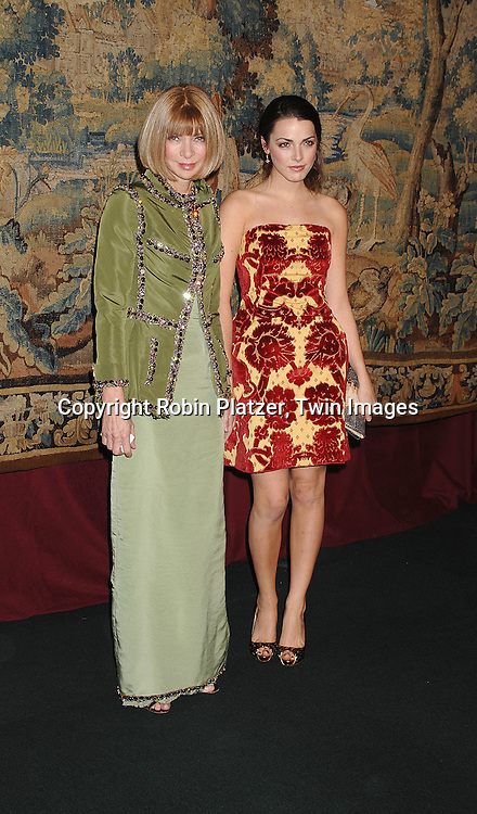 Anna Wintour and daughter Bea Shaffer..arriving at The 7th on Sale Black Tie Gala Dinner on ..November 15, 2007 at The 69th Regiment Armory in New York. The Fashion Industry's Battle Against HIV and AIDS..will benefit. CFDA and Vogue were 2 of the sponsors...Robin Platzer, Twin Images
