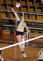 Florida International University women's volleyball player Una Trkulja (7) plays against Arkansas State University.  FIU won the match 3-2 on October 21, 2011 at Miami, Florida. .