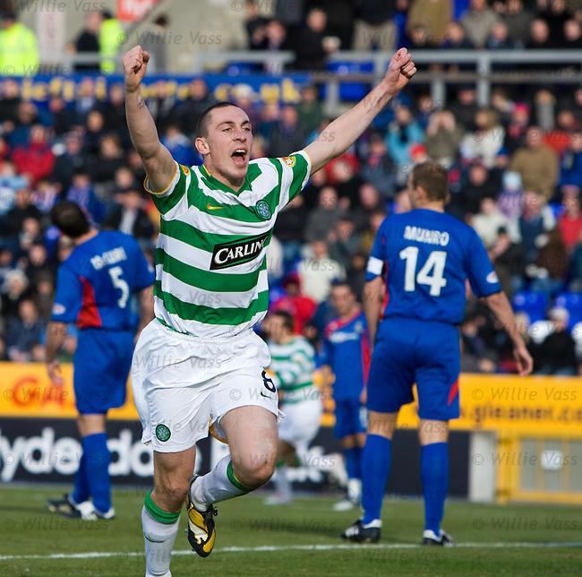 Scott Brown celebrates his goal