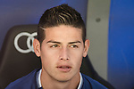 James Rodriguez of Real Madrid prior to the La Liga match between Real Madrid and Atletico de Madrid at the Santiago Bernabeu Stadium on 08 April 2017 in Madrid, Spain. Photo by Diego Gonzalez Souto / Power Sport Images