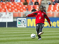 3 April 2004: Freddy Adu during practice before the game against Earthquakes at RFK Stadium in Washington D.C..  Credit: Michael Pimentel / ISI
