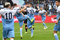 Francesco Acerbi of Lazio (c) celebrates after scoring a goal <br /> during the Serie A 2018/2019 football match between SS Lazio and Cagliari at stadio Olimpico, Roma, December 22, 2018 <br />  Foto Andrea Staccioli / Insidefoto
