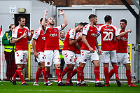 Fleetwood Town's Paddy Madden celebrates scoring his side's first goal <br /> <br /> Photographer Richard Martin-Roberts/CameraSport<br /> <br /> The EFL Sky Bet League One - Fleetwood Town v Shrewsbury Town - Saturday 13th October 2018 - Highbury Stadium - Fleetwood<br /> <br /> World Copyright &not;&copy; 2018 CameraSport. All rights reserved. 43 Linden Ave. Countesthorpe. Leicester. England. LE8 5PG - Tel: +44 (0) 116 277 4147 - admin@camerasport.com - www.camerasport.com