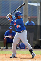 New York Mets Juan Lagares #76 during a minor league spring training intrasquad game at the Port St. Lucie Training Complex on March 27, 2012 in Port St. Lucie, Florida.  (Mike Janes/Four Seam Images)