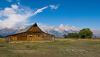Grand Tetons with Barn