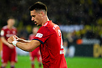 10.11.2018, Signal Iduna Park, Dortmund, GER, 1.FBL, Borussia Dortmund vs FC Bayern M&uuml;nchen, DFL REGULATIONS PROHIBIT ANY USE OF PHOTOGRAPHS AS IMAGE SEQUENCES AND/OR QUASI-VIDEO<br /> <br /> im Bild | picture shows:<br /> Sandro Wagner (Bayern #2) gibt an, dass er gesto&szlig;en worden ist, <br /> <br /> Foto &copy; nordphoto / Rauch