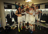 Pictured: Players celebrate in the changing room at the end of the game Monday 13 March 2017<br /> Re: Premier League 2, Swansea City U23 v Wolverhampton Wanderers FC at the Liberty Stadium, Swansea, UK