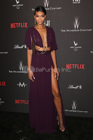 BEVERLY HILLS, CA - JANUARY 08: Chanel Iman at The Weinstein Company and Netflix Golden Globe Party at The Beverly Hilton Hotel on January 8, 2017 in Beverly Hills, California. Credit: Faye Sadou/MediaPunch