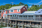 Harraseeket Lunch and Lobster Company  at the Freeport Town Wharf, Freeport, Maine, USA