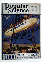 "Utopia:  Transport of the Future--monorail.  Corn & Horrigan, YESTERDAY'S TOMORROS.  Monorails "" an indispensable part of the popular vision of the future.""  POPULAR SCIENCE, Oct. 1930."