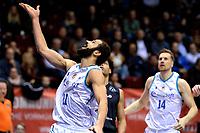 GRONINGEN - Basketbal, Donar - Apollo , Martiniplaza, Dutch Basketbal League seizoen 2019-2020, 18-1-2020,  Donar speler Shane Hammink kijkt de bal na
