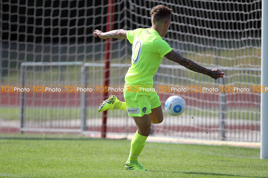 Sammie Szmodics of Colchester scores again during Chelmsford City vs Colchester United, Friendly Match Football at Melbourne Park on 23rd July 2016