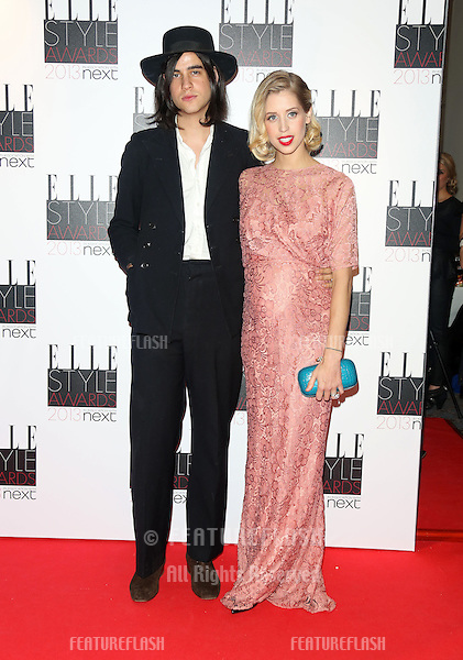Peaches Geldof and Thomas Cohen at the Elle Style Awards 2013, at The Savoy, London. 11/02/2013 Henry Harris / Featureflash