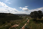 Picture taken on April 2, 2019, shows a general view of the Israeli Jewsih settlement of Shilo, near the city of Nablus in the occupied West Bank. After the United States recognized the annexed Israel Occupied Golan Heights as Israeli territory, Israel's Prime Minister Benjamin Netanyahu will possibly declare illegal Jewish settlements in the occupied West Bank as Israeli territory if re-elected on the April 9 elections, according to media reports. Photo by Shadi Jarar'ah