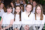 Allanna Norgrove, Sally Lenihan, Siobhain Griffin, and Isabella Curran from Spa NS who sang at the 2014 Peace Proms in the INEC on Sunday