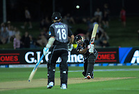 New Zealand's Ish Sodhi bats during the 4th Twenty20 International cricket match between NZ Black Caps and England at McLean Park in Napier, New Zealand on Friday, 8 November 2019. Photo: Dave Lintott / lintottphoto.co.nz