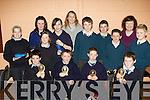 Senior winners from the Milltown Credit Union school table quiz in Milltown Presentation school on Friday evening front row l-r: Christopher O'Brien, Fionn Corcoran, Senan Wrenn, Niall O'Shea Faha NS (winners). Second row: Sarah Redmond, Lisa Murphy, Laura Prendergast, Emer Corcoran Castledrum NS (2nd), Tadgh McCarthy, Olta Heffernan, Sean O'Dea, Cormac Leane Milltown (3rd) Back row: Margaret and Debra O'Brien Credit Union .