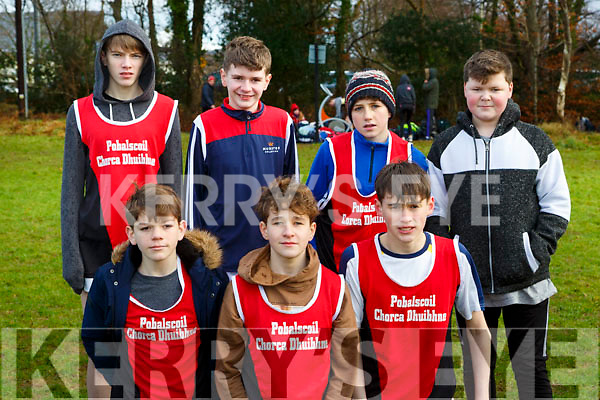 PS Chorca Dhuibhne runners at the Kerry Schools Cross Country championships in Killarney on Friday front l-r: Ruairc O'Shea, Patrick Saunders, Finn Davis. Back row: Cormac Kennedy, Seamus Barrett,Rian O'Sulivan, Dylan O'Connor