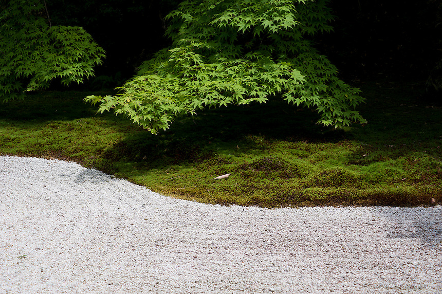 Detail of the landscape garden at Tenju-an Sub-Temple at Nanzen-ji Temple, Kyoto.
