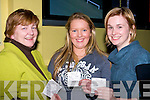 WINNERS: Carmel Ryan, Laura Kennelly and Ciara Ryan winner on the night at the Kingdom Greyhound Stadium, Tralee on Friday night......