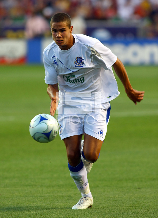Jack Rodwell in the MLS All Stars v Everton 4-3 Everton win at Rio Tinto Stadium in Sandy, Utah on July 29, 2009