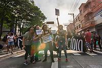 SÃO PAULO, SP, 29.09.2019 - PROTESTO-SP - Manifestantes protestam contra o candidato Jair Bolsonaro do PSL à presidência do Brasil no protesto Mulheres contra Bolsonaro, no Largo da Batata, região Oeste de São Paulo neste sábado, 29. (Foto: Anderson Lira/Brazil Photo Press/Folhapress)