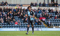 Sido Jombati of Wycombe Wanderers applauds some good work during the Sky Bet League 2 match between Wycombe Wanderers and Leyton Orient at Adams Park, High Wycombe, England on 23 January 2016. Photo by Andy Rowland / PRiME Media Images.