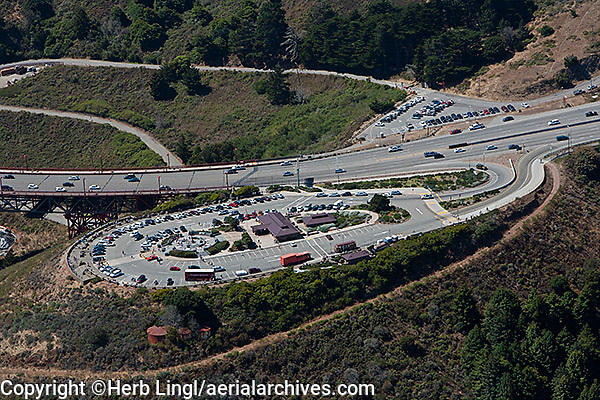 aerial photograph Golden Gate bridge vista Sausalito Marin County, California