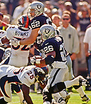 Oakland Raiders vs. Denver Broncos at Oakland Alameda County Coliseum Sunday, October 10, 1999.  Broncos beat Raiders  16-13.  Oakland Raiders running back Napoleon Kaufman (26).