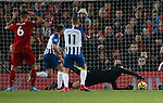 Adrian of Liverpool saves on the line after he split the ball minutes after coming on during the Premier League match at Anfield, Liverpool. Picture date: 30th November 2019. Picture credit should read: Simon Bellis/Sportimage