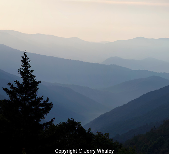 Layered Mountains, Great Smoky Mountains NP, Western North Carolina