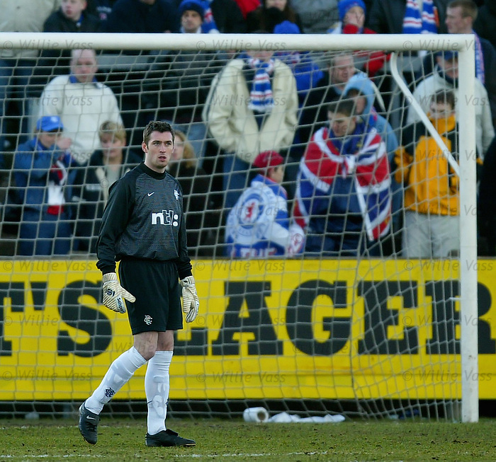 Allan McGregor's first team debut for Rangers at Forfar in the Scottish Cup, February 2002
