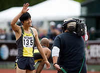 EUGENE, OR--Liu Xiang competes in the 110 Meter hurdles in the Steve Prefontaine Classic, Hayward Field, Eugene, OR. SUNDAY, JUNE 10, 2007. PHOTO © 2007 DON FERIA