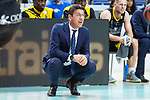 Iberostar Tenerife coach Fotis Katsikaris during first match quarter finals of Liga Endesa Playoff between Real Madrid and Iberostar Tenerife at Wizink Center in Madrid, Spain. May 27, 2018. (ALTERPHOTOS/Borja B.Hojas)