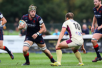 Danny Kenny of London Scottish in action during the Greene King IPA Championship match between London Scottish Football Club and Doncaster Knights at Richmond Athletic Ground, Richmond, United Kingdom on 30 September 2017. Photo by Jason Brown / PRiME Media Images.