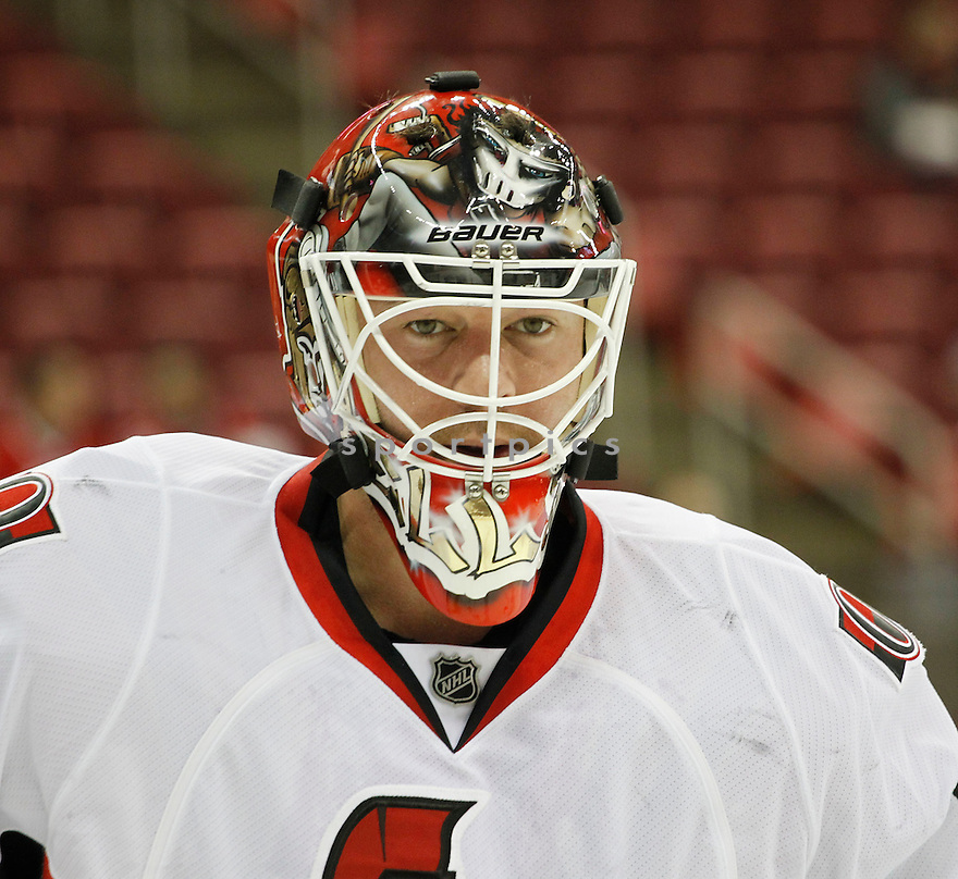 BRIAN ELLIOTT, of the Ottawa Senators.