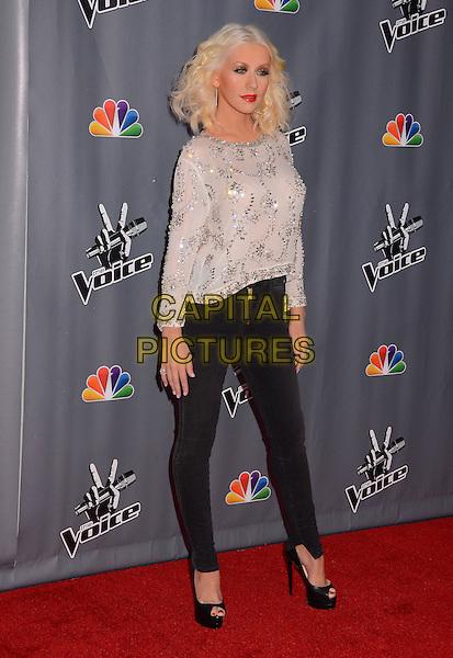 07 November  2013 - Los Angeles, California - Christina Aguilera &quot;The Voice&quot; Season 5 Top 12 red carpet event held at Universal Studios in Los Angeles, Ca.  <br /> CAP/ADM/BT<br /> &copy;Birdie Thompson/AdMedia/Capital Pictures