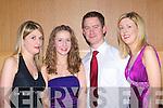 GAA Social: Enjoying the Kerins O'Rahillys GAA club Tralee, annual social in the Ballyroe Heights hotel Last Friday night were sisters l-r: Lillian, Roisin & Kathy Healy with Alex Hoffman.