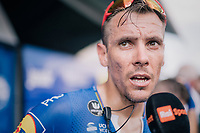 Philippe Gilbert (BEL/Quick Step floors) interviewed post-race<br /> <br /> Stage 1: Noirmoutier-en-l'&Icirc;le &gt; Fontenay-le-Comte (189km)<br /> <br /> Le Grand D&eacute;part 2018<br /> 105th Tour de France 2018<br /> &copy;kramon