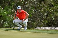 Matthew Wallace (ENG) looks over his putt on 2 during day 2 of the WGC Dell Match Play, at the Austin Country Club, Austin, Texas, USA. 3/28/2019.<br /> Picture: Golffile | Ken Murray<br /> <br /> <br /> All photo usage must carry mandatory copyright credit (© Golffile | Ken Murray)