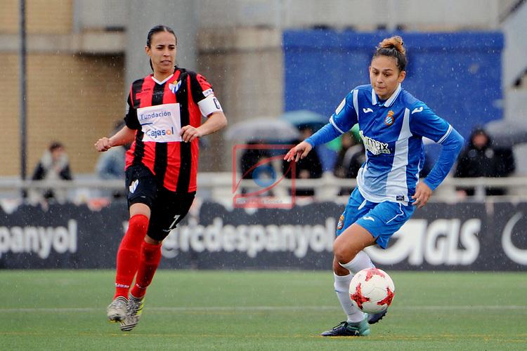 Spanish Women's Football League Iberdrola 2017/18 - Game: 18.<br /> RCD Espanyol vs Sporting Huelva: 1-0.<br /> Anita Hernandez vs Letti Sevilla.