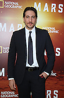 NEW YORK, NY-October 26: Alberto Ammann  at National Geographic Channel presents the Epic Six-Part Event Series MARS premiere at the School of Visual Arts  in New York.October 26, 2016. Credit:RW/MediaPunch