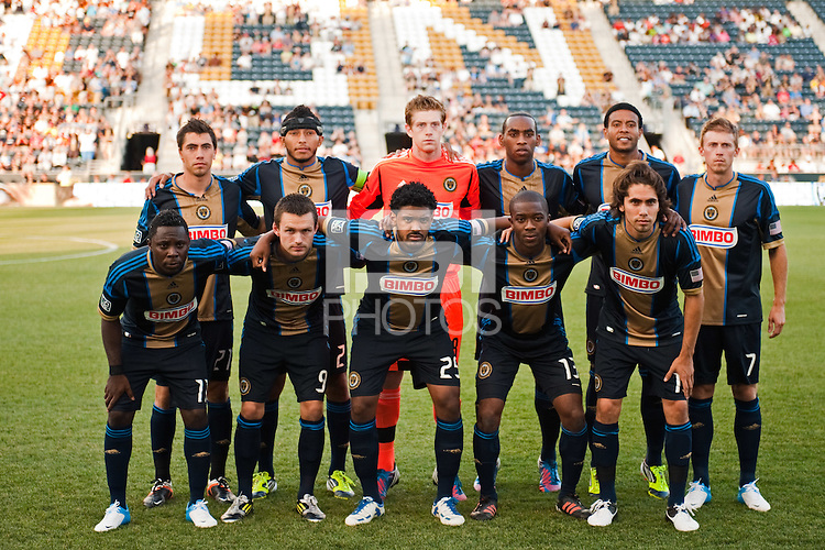 Philadelphia Union starting eleven. Sporting Kansas City defeated the Philadelphia Union 2-0 during the semifinals of the 2012 Lamar Hunt US Open Cup at PPL Park in Chester, PA, on July 11, 2012.