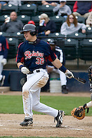 June 1, 2008: Tacoma Rainiers catcher Rob Johnson at-bat during a Pacific Coast League game against the Salt Lake Bees at Cheney Stadium in Tacoma, Washington.