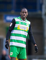 Nathan Smith of Yeovil Town during the Sky Bet League 2 match between Wycombe Wanderers and Yeovil Town at Adams Park, High Wycombe, England on 14 January 2017. Photo by Andy Rowland / PRiME Media Images.