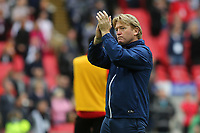 Bradford City Manager, Stuart McCall, applauds the Bradford fans at the end of the match after losing the Division One Play-Off Final during Bradford City vs Millwall, Sky Bet EFL League 1 Play-Off Final at Wembley Stadium on 20th May 2017