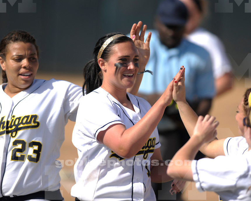 University of Michigan softball 8-0 victory over Arizona at the Judi Garman Classic hosted by Cal State, Fullerton on March 18, 2011.